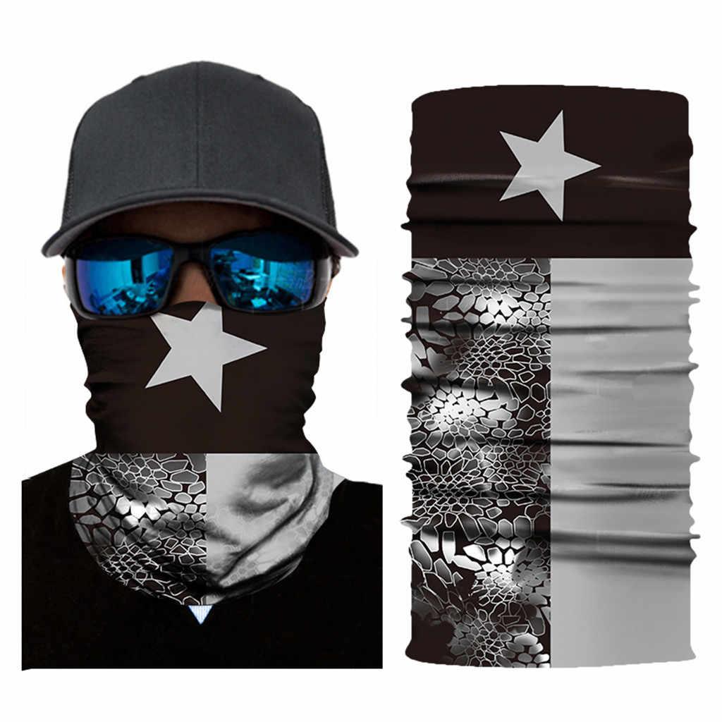 Unisex Fiets Sjaal Ski Magic Sjaal Cyclus Gezichtsmasker Mannen Vrouwen Mode Cs Vermomming Bandana Rijden Apparatuur Half Gezicht Wind masker