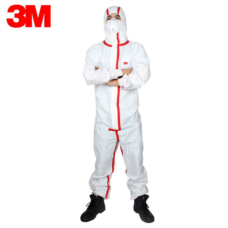 3M 4565Disposable Medical protective clothing Coverall Anti Infectious blood/humoral spatter Anti Chemical Pesticides Splashes 3m 4515white non woven fabric coverall clothes anti static and anti chemical liquid splash and effective protection of particles