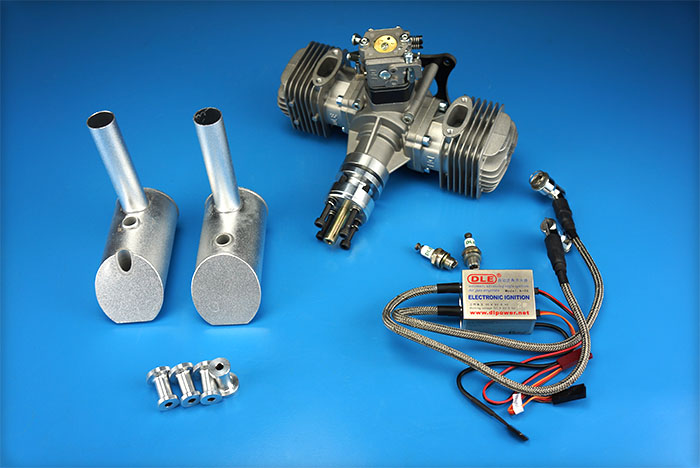 New DLE Engine DLE60 DLE-60cc Twin Gasoline For RC Airplane Model 60CC image