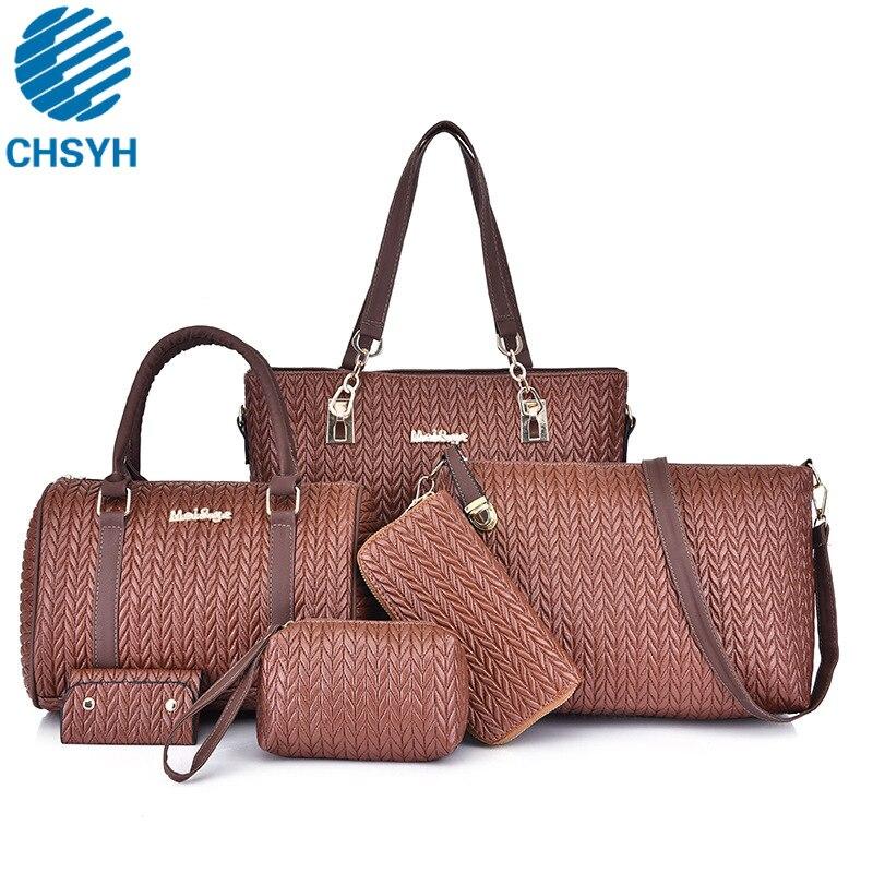 6 pièces/ensemble femmes mode blé Spike Crossbody Portable sacs dames Designer sacs femmes lambrissés sacs à main fourre-tout pour les femmes