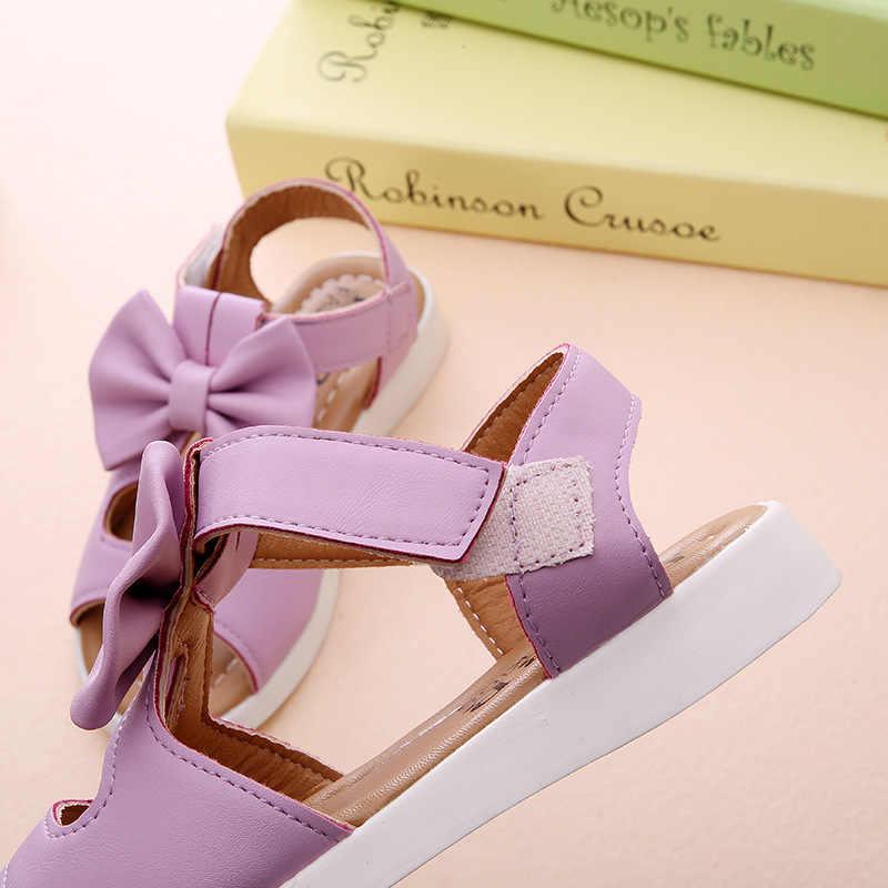 SLYXSH Kız sandalet hakiki deri beyaz pembe kırmızı açık ayak çiçekler yaz kız ayakkabı çocuk ayakkabı geniş chaussure boyutu 21 -36