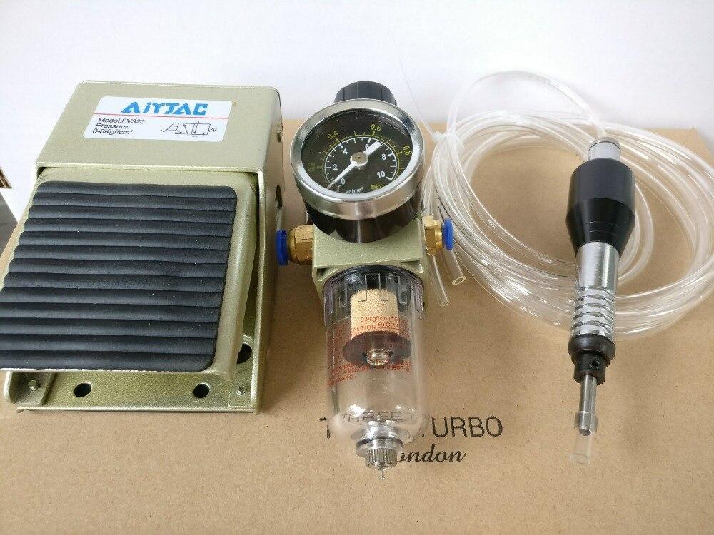 Pneumático máquina de jateamento de areia lixadeira Pneumática equipamentos jóias de Ouro e prata jóias de cobre superfície fosco