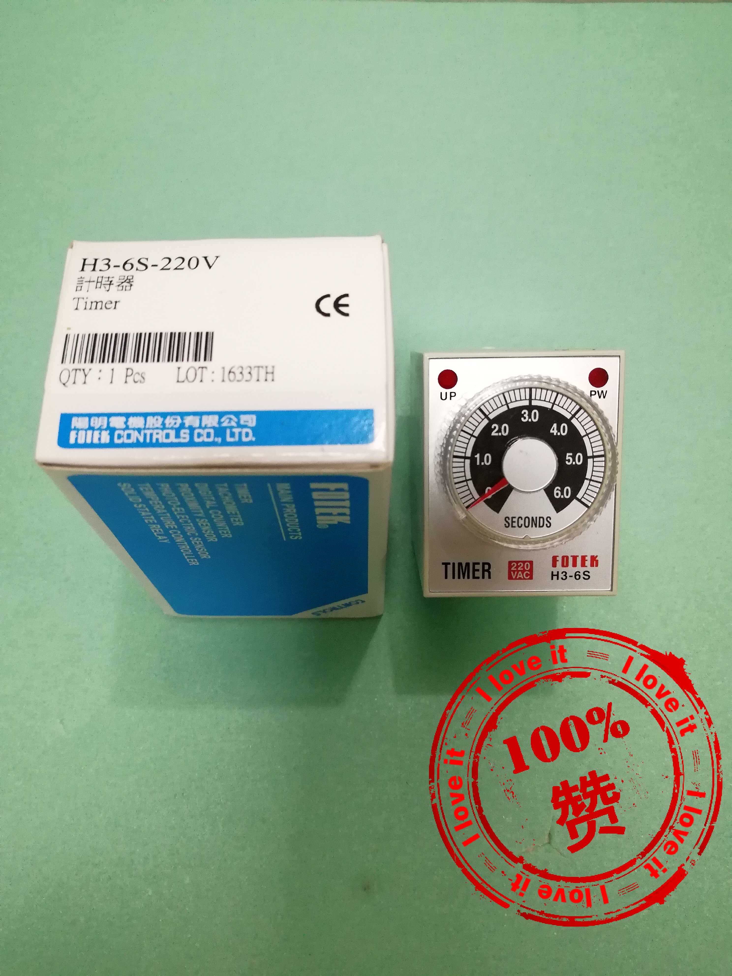 New Original Import Timer H3-6S-220V Time Relay 6 Seconds
