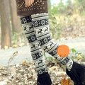 New Womens Ladies Stretchy Knitted Snowflakes Deer Pattern  Tights Pants