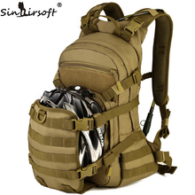 Купить с кэшбэком Sinairsoft Men Women Outdoor Military Tactical Backpack Trekking Sport Travel 25L Nylon Camping Hiking Trekking Camouflage Bag