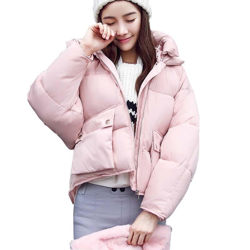 New winter coats 2018 casual thick plus size women bat sleeved overcoat outerwear women jackets Warm Cotton-padded Women   Parka