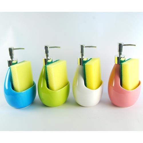 Ceramic Hand Sanitizer Bottle Body Wash Pressure Mouth Lotion Bathroom Supplies