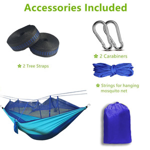Image 2 - Dropshipping 1 2 Person Outdoor Mosquito Net Parachute Hammock Camping Hanging Sleeping Bed Swing Portable Double Chair Hamac