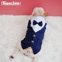 Formal Dog Clothes Wedding Pet Suit Costume Pets Tuxedo Clothes For Small Medium Dogs Pug French Bulldog Bow Tie Clothes NNC01 ishowtienda baby boys clothes set formal party christening wedding tuxedo bow tie long sleeve gentry splice costume for kids