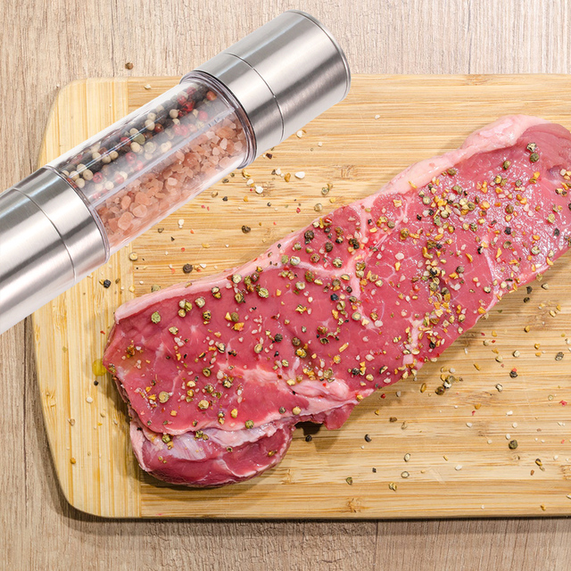 Premium stainless steel grinder with adjustable ceramic