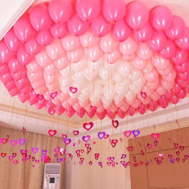 Shining Ballon Pendant Heart Shaped Set 100 Pcs