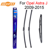 QEEPEI Front and Rear Wiper Blade For Opel Astra J 2009 2015 High quality Natural Rubber Windscreen 27''+25''R