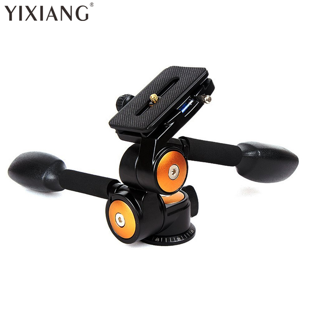 YIXIANG Two Handle Hydraulic Damping 3D Three-dimensional Tripod Head BK80 with Quick Release Plate for Tripod SLR Camera nokotion for samsung r60 plus laptop motherboard np r60y ba92 04772a rs600me sb600 radeon xpress 1250 ddr2
