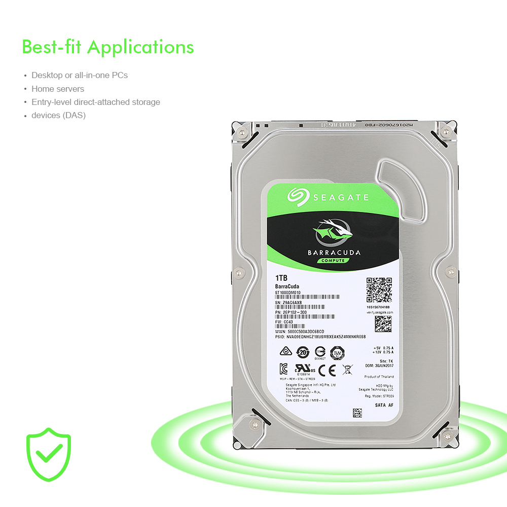 Seagate ST1000DM010 Desktop HDD Internal Hard Disk Drive 7200 RPM SATA 6Gb/s 64MB Cache 3.5 inch 1TB HDD Drive Disk For Computer 3000gb seagate st3000dm001 64mb 7200rpm sata3 desktop hdd 7200 14 page 5