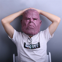 Avengers Thanos Mask Cosplay Props Halloween Party Horror Latex Mask Headwear