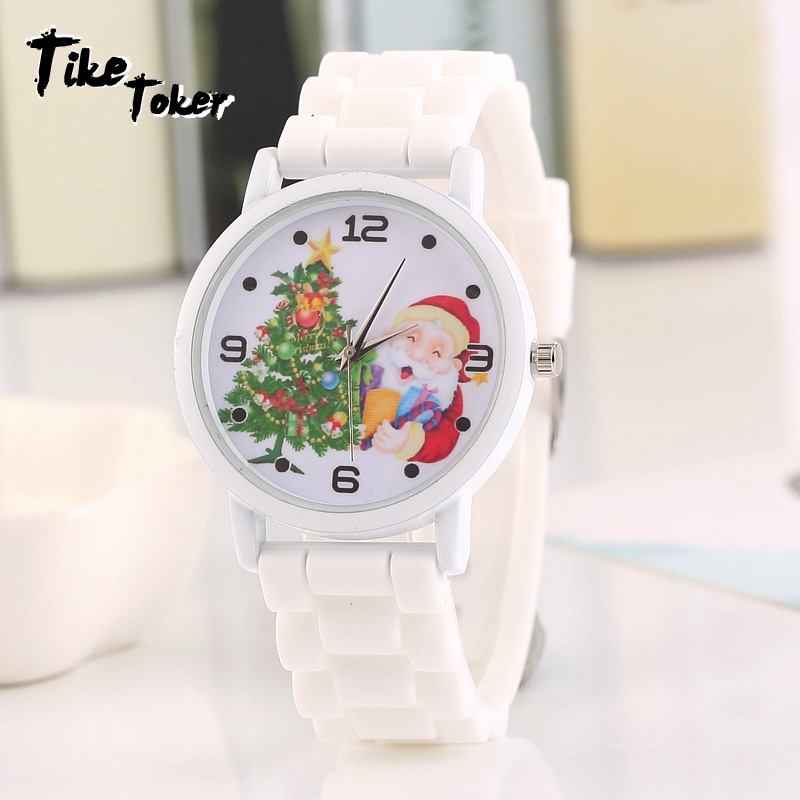 Children Cute Christmas Tree Partner Fashion Watch Merry Christmas Gifts Silicone Strap WristWatch Relojes Hombre 2017 Clock