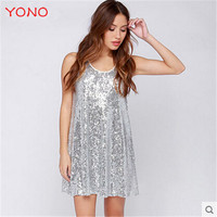 2015 New Fashion Women Dresses Cute Casual Tank Dress Sleeveless Flashing Summer Mini Top Dresses Hot