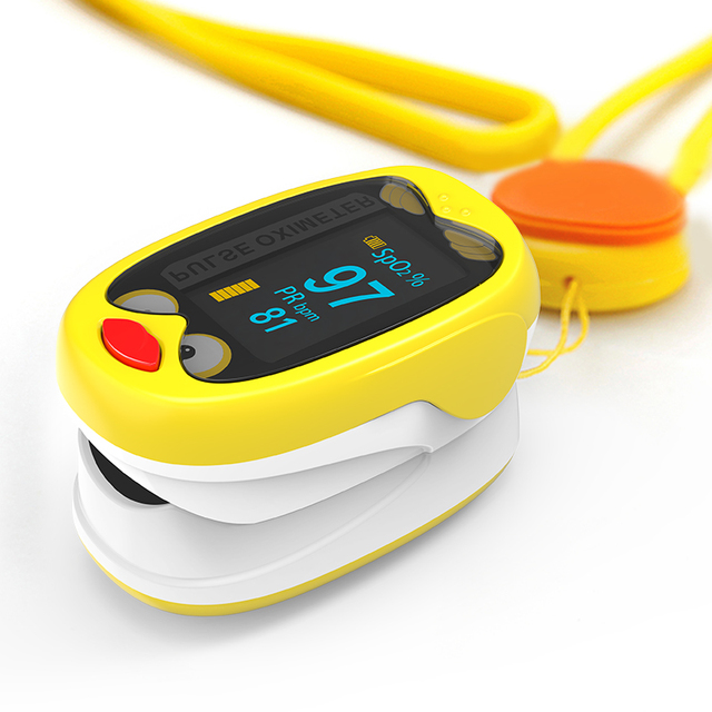 BOXYM Rechargeable Child Finger Pulse Oximeter SpO2 Blood Oxygen PR Saturation Meter Pediatric baby Neonatal Infant kids 2