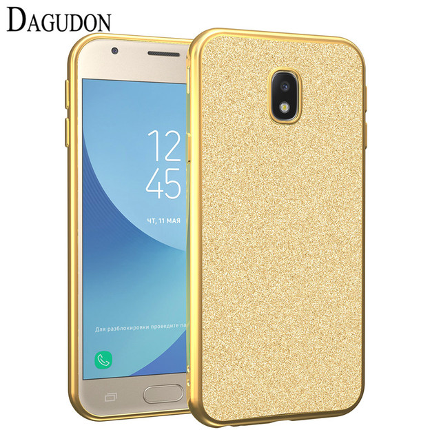 best service 35fcc 6f281 US $3.55 |DAGUDON Bling Glitter Case for Samsung galaxy J5 2017 Soft TPU  Silicone Phone Cases for Samsung J5 2017 Protective Case j530F -in Fitted  ...