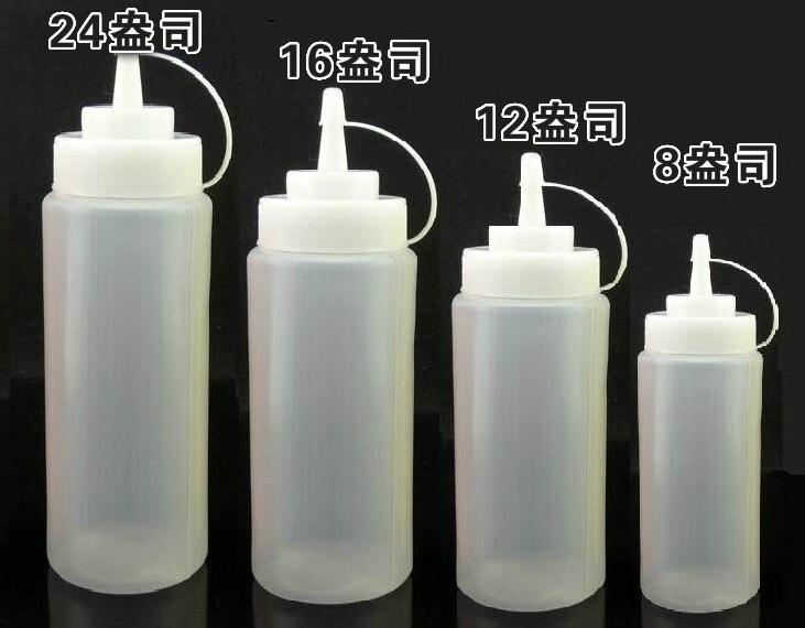 Cuisine Squeeze Bottle Condiment Distributeur pour Sauce Vinaigre Huile Jam bouteille W