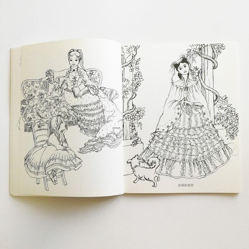Soy la pequeña señora francés popular libro para colorear de la niña ...
