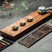 [Yan Mountain] new Chinese creative cloud heavy bamboo wood bamboo tea tray drainage