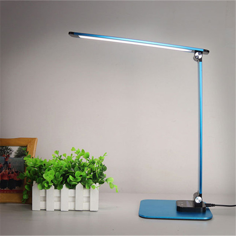 Eye Care Folding LED Table Desk Lamp Reading Book Light USB 3 Color Adjustable Child Study Bedroom Bedside Lamp Touch Switch icoco sensitive touch dimmer desk lamp eye care reading led fashion night light folding portable table lamp for office study new