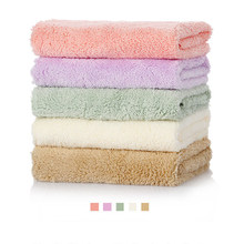 baby towel for hand face 30*30CM 2 Pcs absorbent drying bath towel for kid polyester cotton solid soft washcloth toalla de playa(China)