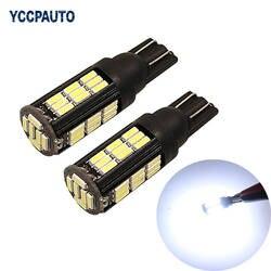 YCCPAUTO T10 W5W 168 194 светодио дный огни багажнике автомобиля поворотов Чтение луковицы автомобиля светодио дный свет хорошее качество белый 4014