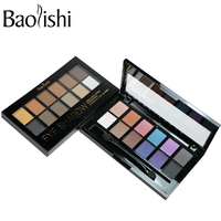 Baolishi Cosmetic Brand New 12 Color Naked Eyeshadow Palette Matte Earth Color Natural Eye Shadow Makeup