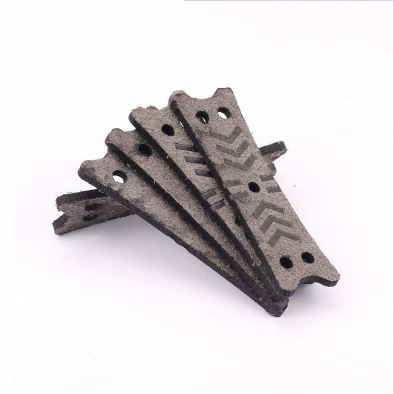 10pcs/20pcs  Microfiber Leather Slingshots Pouches Gray Color Square Hole For Catapults Sling Shots Accessories Outdoor Tools