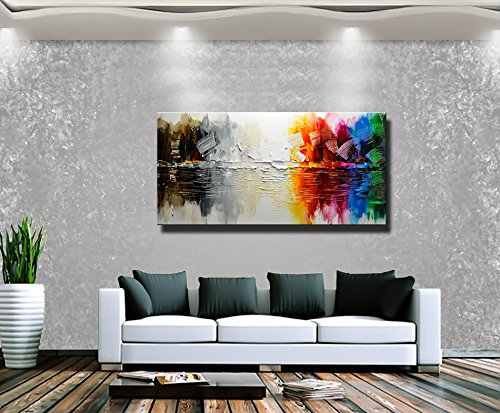 Abstract Modern Canvas Painting Contemporary Wall Art Acrylic Textured Painting