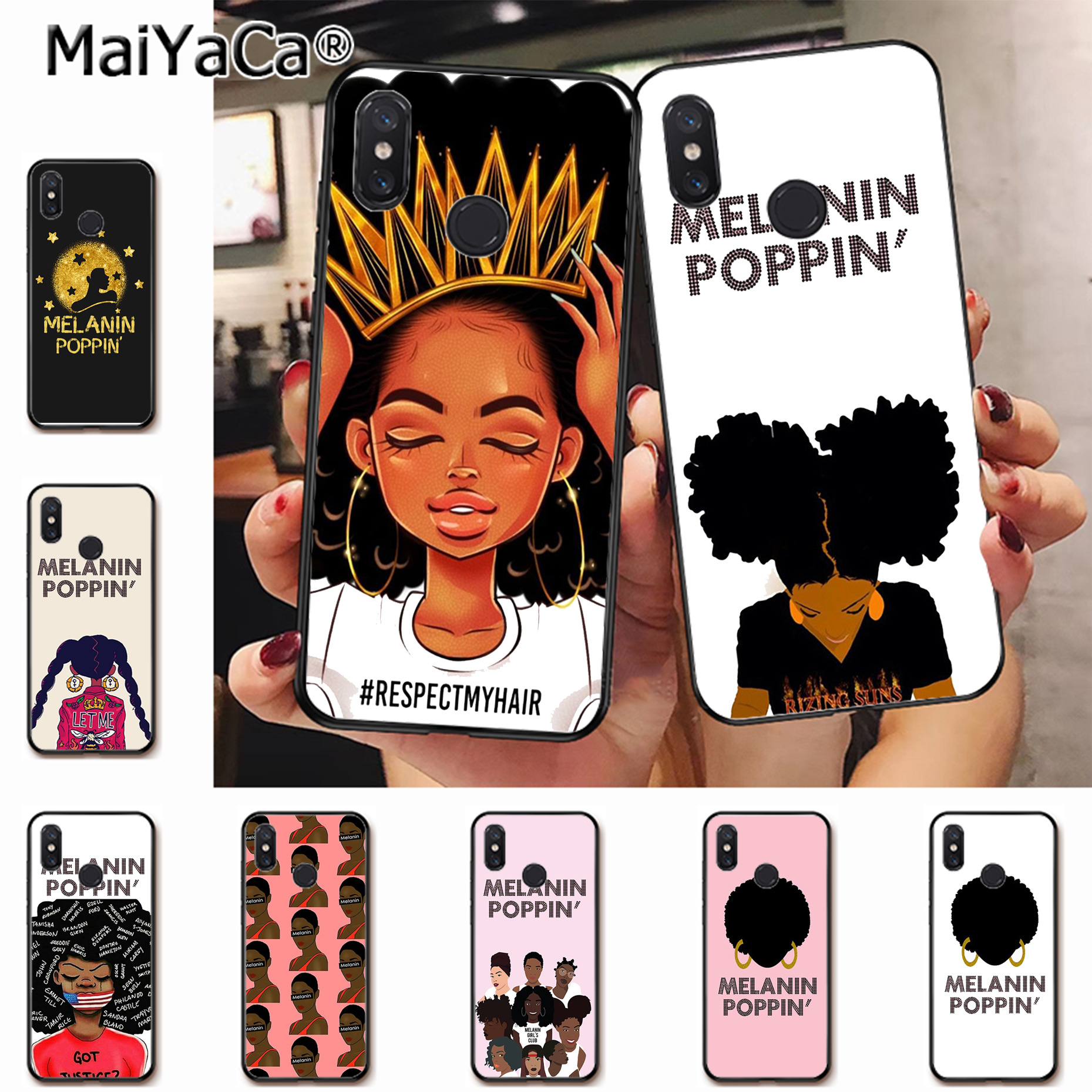 Clothing, Shoes & Accessories Knowledgeable Maiyaca Melanin Poppin Black Gir Waterproof Soft Phone Case For Mi 6 6x 6plus 8 8se Note 2 3 Redmi Note5 Redmi 5 5 Plus Cover