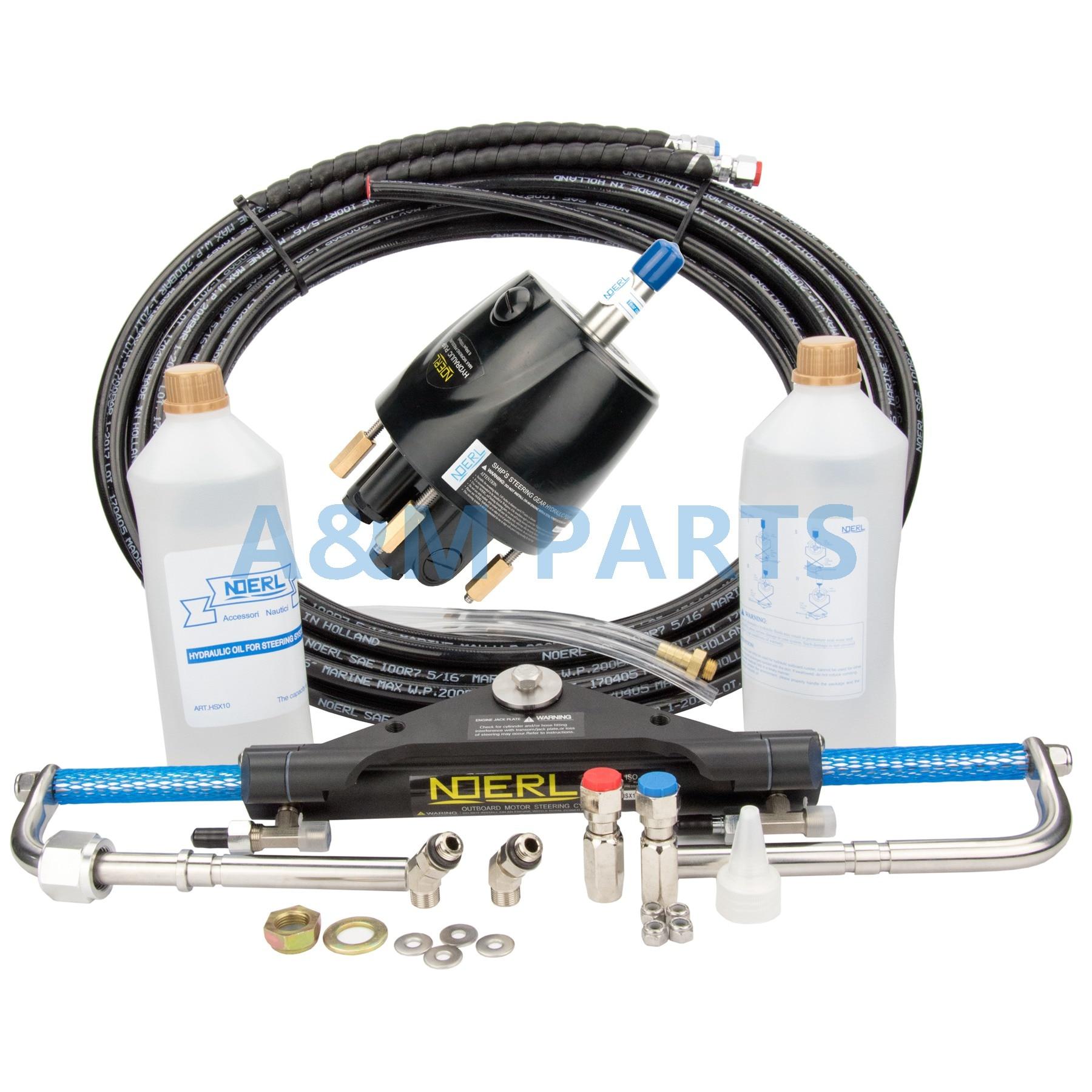 купить Boat Marine Hydraulic Outboard Steering System Kit Cylinder Helm 150HP по цене 36953.31 рублей