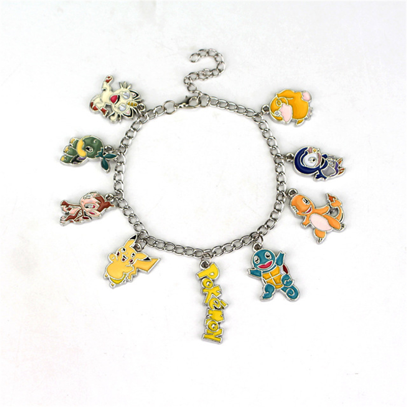 new-font-b-pokemon-b-font-pocket-monster-pikachu-psyduck-cosplay-accessories-jewelry-metal-bracelet-wristband-pendant-necklace-keychain