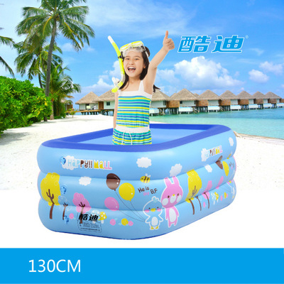 inflatable kids pool 135*85*55CM kids swimming pool Square brand baby plastic kids inflatable baby swimming pool for children dual slide portable baby swimming pool pvc inflatable pool babies child eco friendly piscina transparent infant swimming pools
