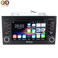 Sinairyu Android 7.1.2 Quad Core Auto Dvd-speler Voor Audi A4 2002-2007 Seat Exeo 2009-2012 GPS Navigatiesysteem