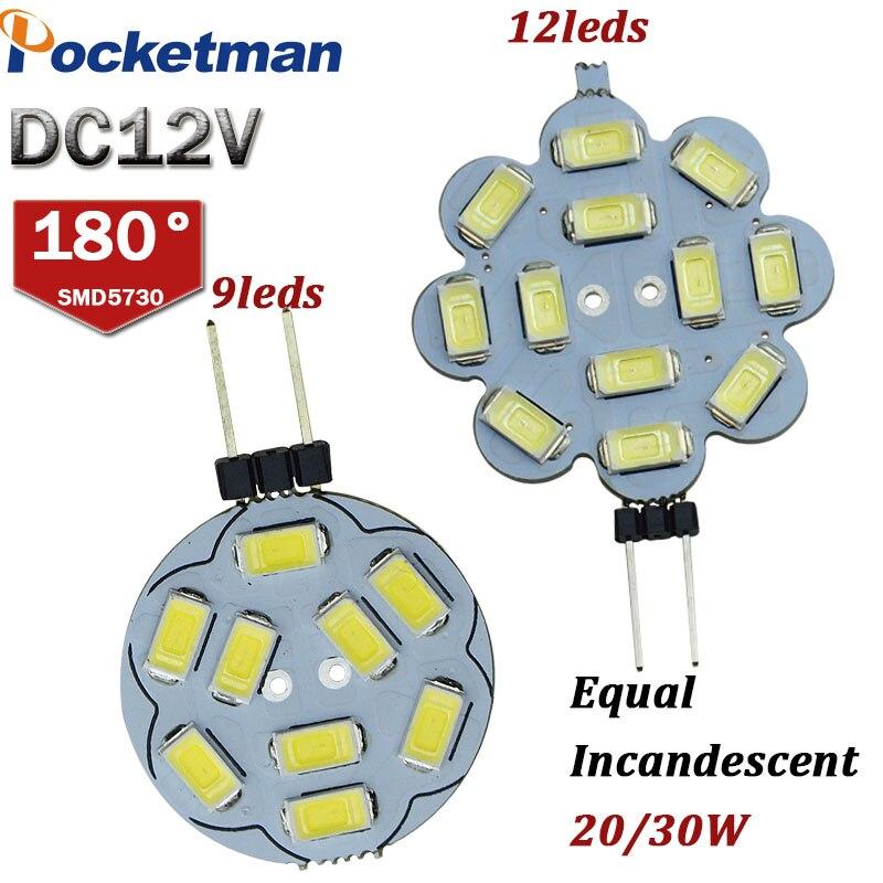 G4 2W 3W LED Bulbs Candle Lights DC12V Car Marine Camper RV 15leds 5730 SMD Led Light Equal 20/30W Incandescent LED Lighting