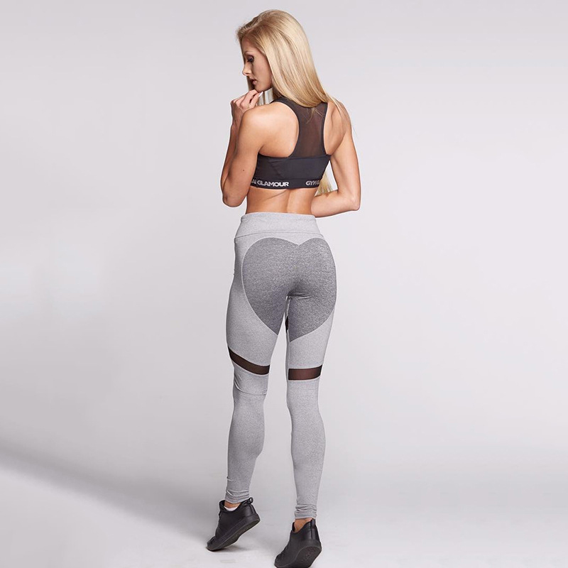 1090cebfc33 Sexy Heart Yoga Pants Women Patchwork Yoga Leggings Women Push Up ...