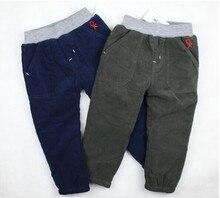 Супер мальчики осень и зима брюки, Европейский стиль брюки, Мальчики прорезиненная тесьма на поясе бутик хлопок брюки 2-color
