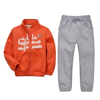 Jumping Beans Children Tracksuits Boys Sports Clothes Sets Orange Coats Jackets Trousers Thick Kids Outfits Winter