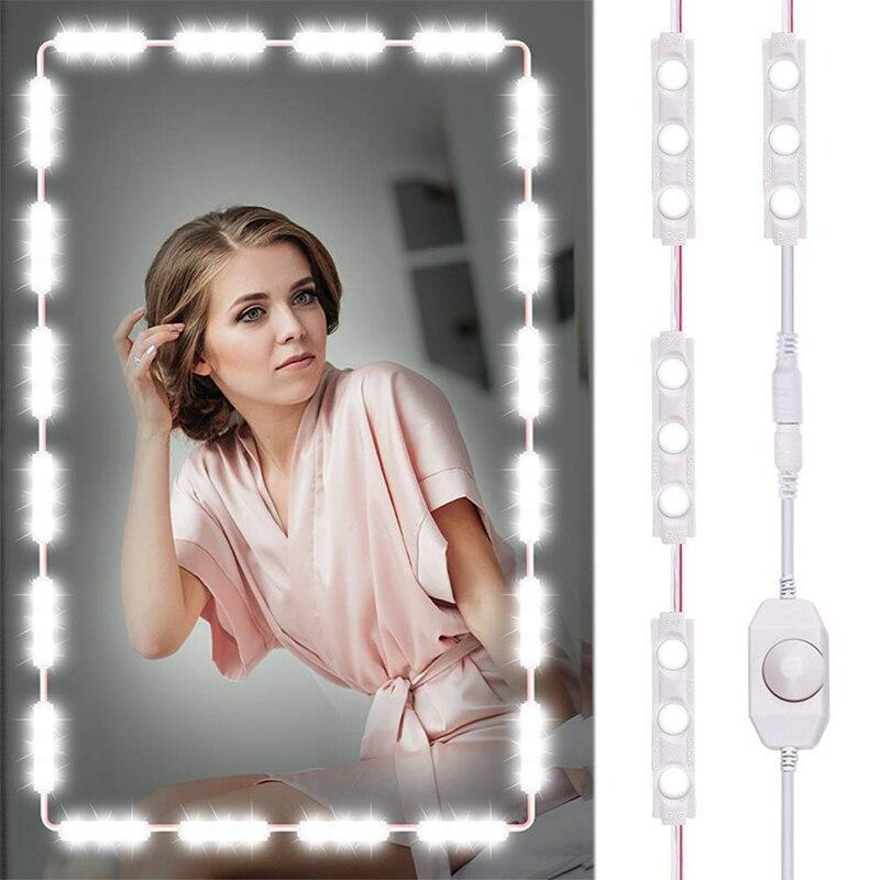 Make-up Spiegel Eitelkeit Led Licht Streifen Kit Eu/us-stecker Kosmetische Licht Einstellbar Dimmen Make-up Spiegel Helligkeit Lichter Haut Pflege Werkzeuge