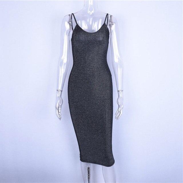 Hugcitar spaghetti straps slash neck backless sexy long dress 2018 women high waist bodycon elegant fashion party dresses 4