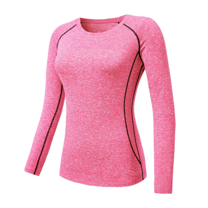 Women Long Sleeve Sports Compression T-Shirt Quick-Dry Gym Yoga Running Tops Tee 3