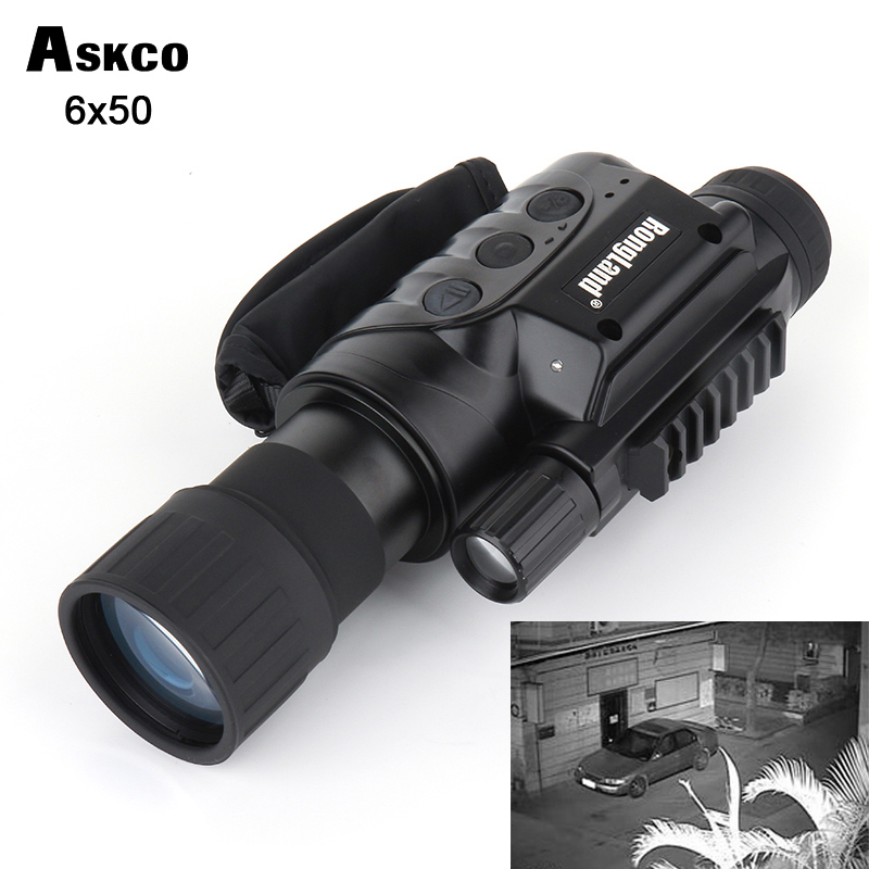 6X50 gen1 digital CCD monocular infrared day and night vision goggles night vision scope 320m range for picture video shooting free shipping gen2 digital monocular infrared night vision goggles 6x32 day and night vision scope for hunting nv 632 hot sell