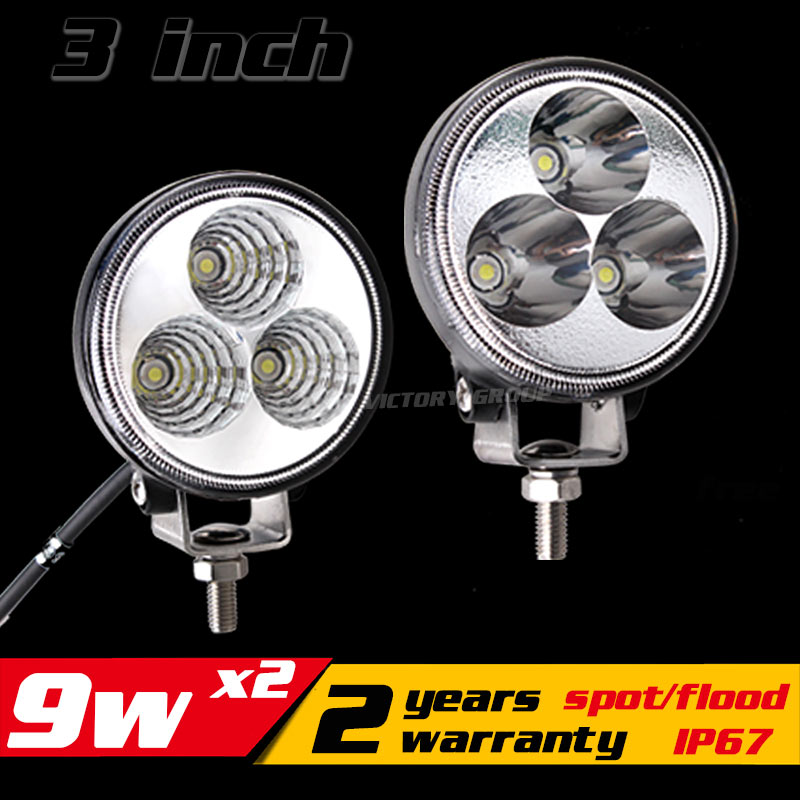 9W Led Work Light  For ATV Motorcycle Offroad Fog Light LED Worklight Daytime Running Light DRL External Light Save on 10w 18w 9 90w led work light 12v 24v led drive light spot combo led lens motorcycle boat atv 4wd offroad fog lamp led worklight vs 120w