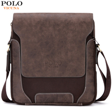 POLO VICUNA Durable Vintage Patchwork Mens Bags Famous Brand Mens Travel Bags Retro Mens Messenger Bags Shoulder Bag For Male
