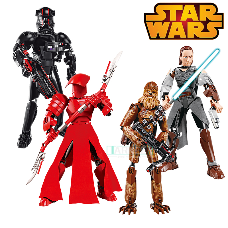 New Arrival Star Wars Buildable Action Figure Darth Vader The Last Jedi Storm Trooper Elite Praetorian Guards Building Block Toy new 1pc darth vader 10cm baby kids childs action figure toy loose xmas