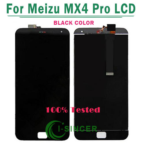 1/PCS Black White For MEIZU Mx4 pro Lcd display Touch screen digitizer glass Touch panel assembly Free Shipping