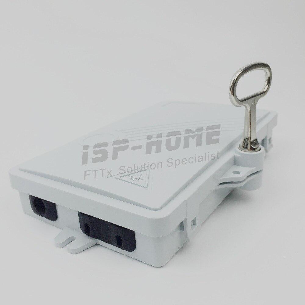 2 Core Ftth Glasvezel Verdeelkast, Terminal Box Abs Outdoor Ftth Terminal Box Voor Een Soepele Overdracht